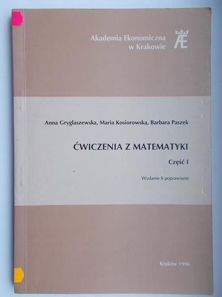 Ćwiczenia z matematyki, cz.1