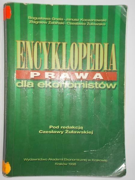 Żółkowska Czesława - Encyklopedia prawa dla ekonomistów