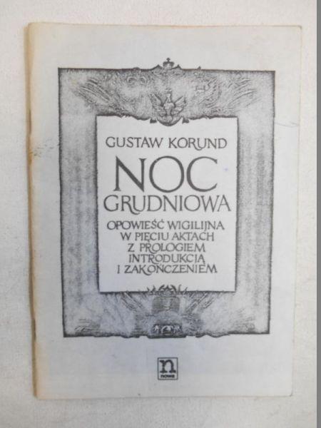 Korund Gustaw - Noc grudniowa