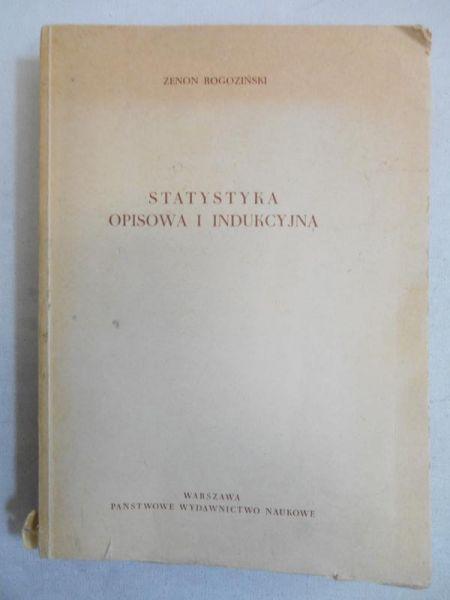 Statystyka opisowa i indukcyjna