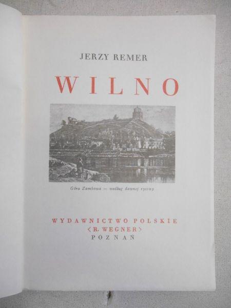 Wilno, reprint z 1934 r.