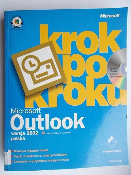 Crupi Kristen - Krok po kroku, Microsoft Outlook 2002 wersja polska + płyta CD