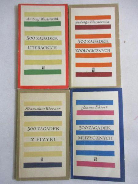 500 zagadek, 3 książki: Muzycznych. Literackich. Zoologicznych. Z fizyki