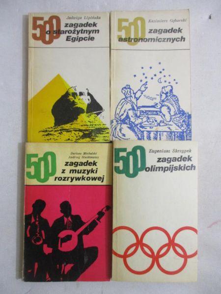 Seria 500 zagadek, zestaw 4 książek