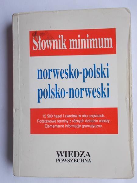 Słownik minimum norwesko- polski, polsko- norweski