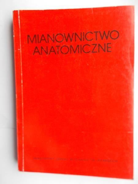 Mianownictwo anatomiczne. Wydanie V