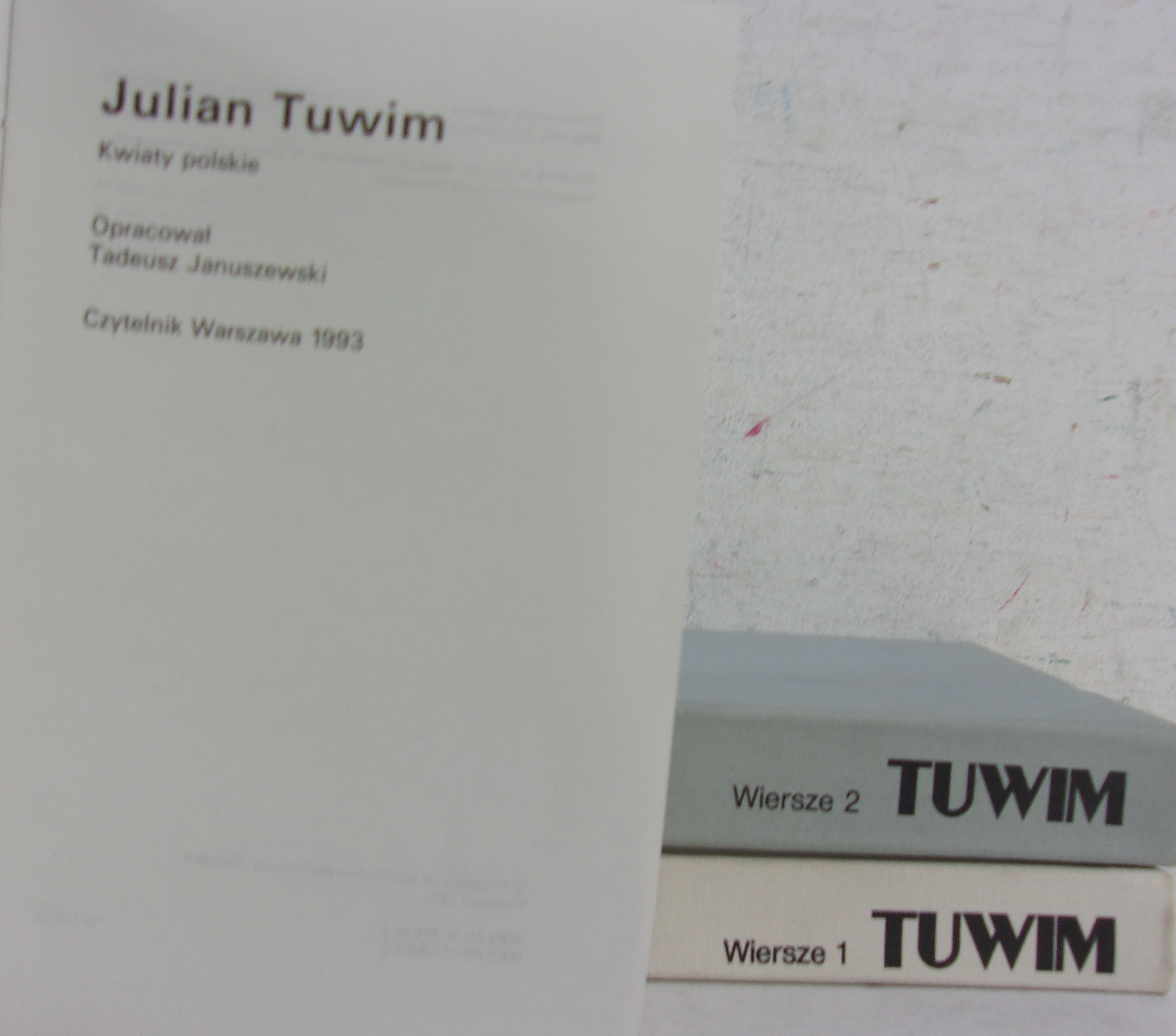 Wiersze Tom I Ii Kwiaty Polskie Tuwim Julian 2400 Zł
