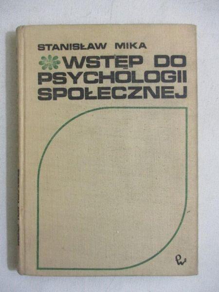 Wstęp do psychologii społecznej