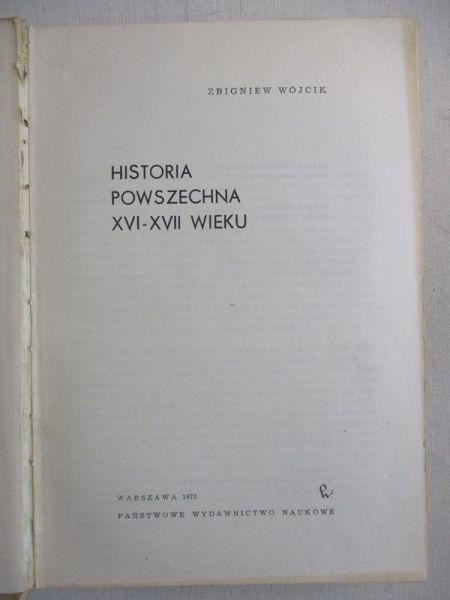 Historia powszechna XVI-XVII w.