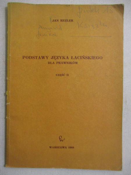 Podstawy języka łacińskiego dla prawników, Część II