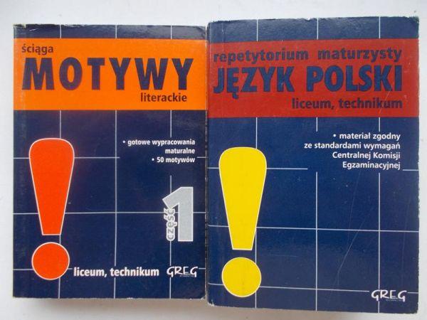 Repetytorium maturzysty język polski / ściaga motywy literackie część I