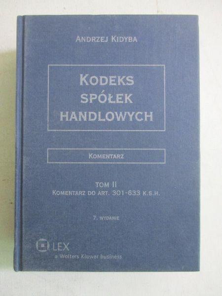 Kodeks spółek handlowych. Komentarz, Tom II