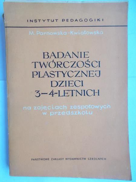 Badanie twórczości plastycznej dzieci 3-4-letnich