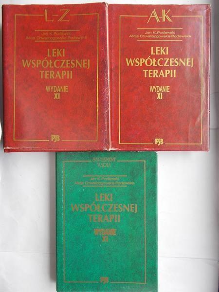 Leki współczesnej terapii. 3 książki