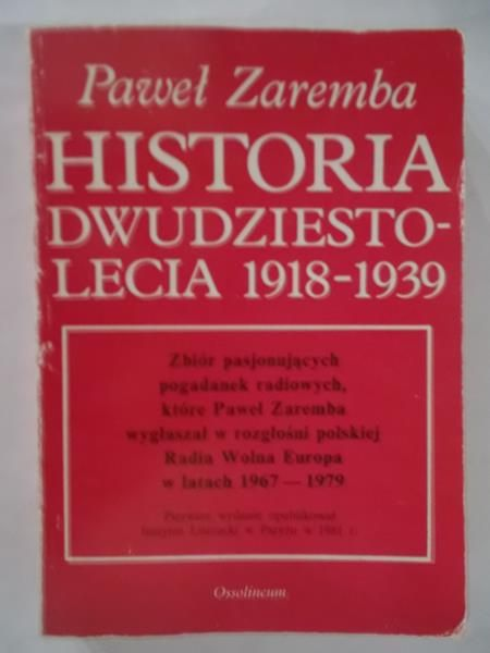 Historia dwudziestolecia 1918-1939