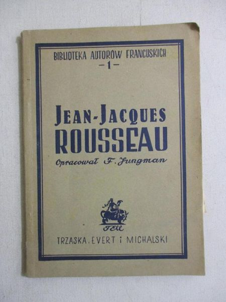 Jean Jacques Rousseau 1946 R F Opr Jungman 10 00 Zl