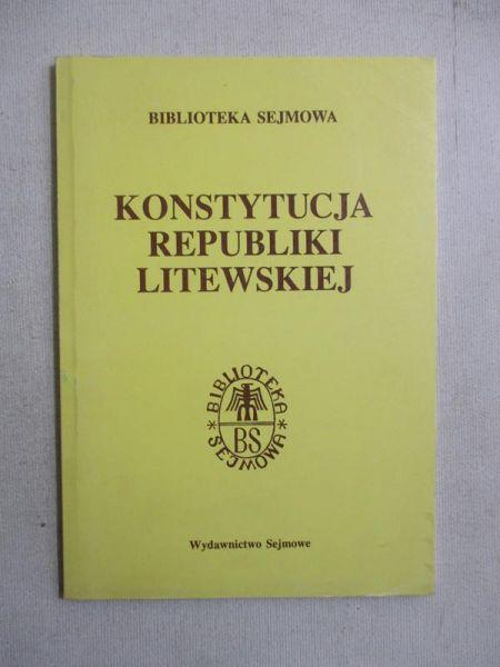 Konstytucja Republiki Litewskiej