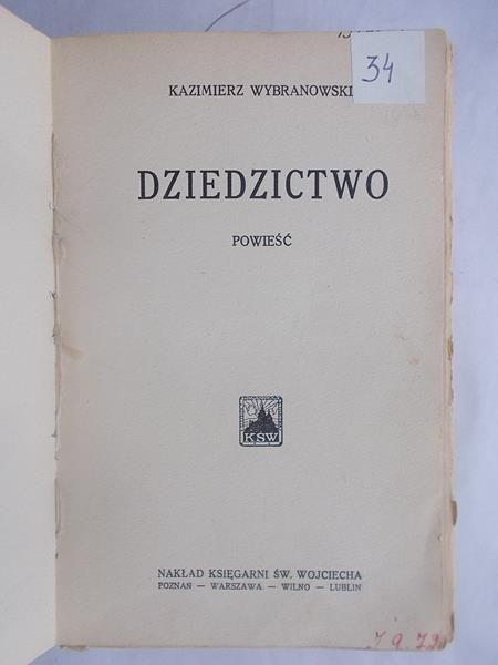 WYBRANOWSKI DZIEDZICTWO PDF