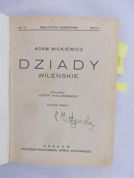 Mickiewicz Adam Dziady 1923 R Adam Mickiewicz 4400
