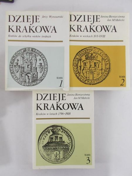 Bieniarzówna Janina, Jerzy Wyrozumski - Dzieje Krakowa Tom I – III