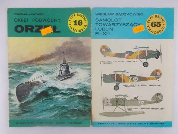 Mańkowski Stanisław/Bączkowski Wiesław - Okręt podwodny ORZEŁ/Samolot towarzyszący Lublin R-XII