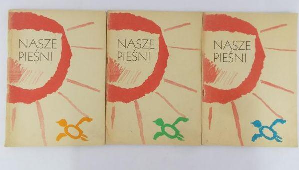 Bukat Kazimierz - Nasze Pieśni Zestaw 3 książek , Nuty
