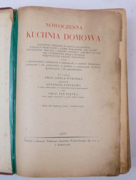 Nowoczesna Kuchnia Domowa 1932 R Emil Red Wyrobek