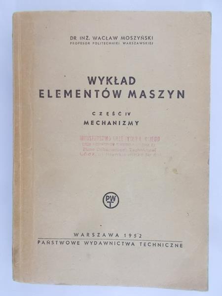 Moszyński Wacław - Wykład elementów maszyn