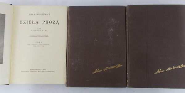 Mickiewicz Adam - Dzieła prozą, Tom I- V 1933 - 1934 r