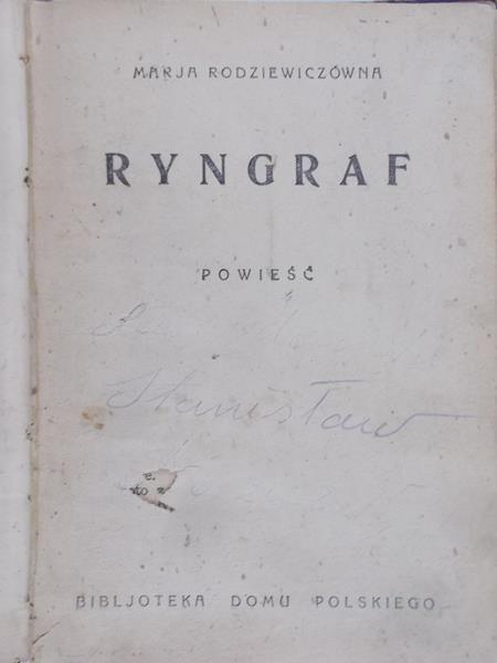 Rodziewiczówna Marja - Ryngraf, 1930