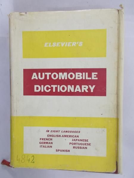 Elsevier's Automobile dictionary