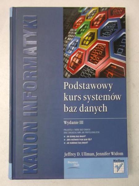 Widom Jennifer - Podstawowy kurs systemów baz danych