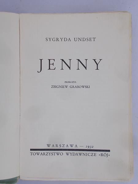 Undset Sygryda - Jenny, 1932 r.