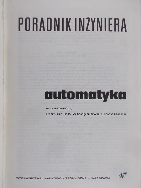 Findeisen Władysław (red.) - Automatyka