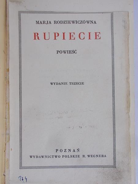 Rodziewiczówna Marja - Rupiecie, 1930 r