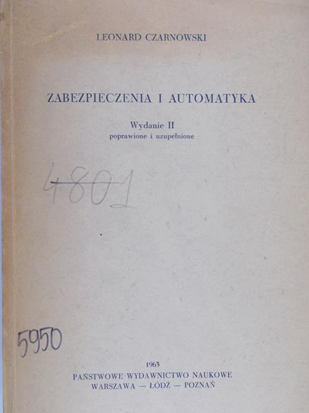 Czarnowski Leonard - Zabezpieczenia i automatyka