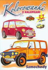 Samochody Kolorowanki z nalepkami