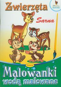 Zwierzęta Sarna Malowanki wodą malowane