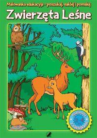 Malowanka edukacyjna z naklejkami Zwierzęta Leśne
