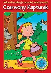 Malowanka edukacyjna z naklejkami Czerwony Kapturek