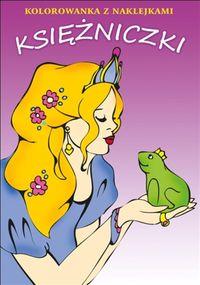 Księżniczki kolorowanka z naklejkami