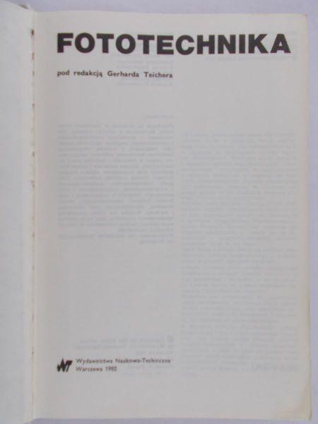 Teicher Gerhard - Fototechnika