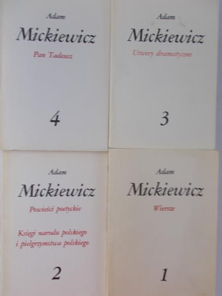Mickiewicz Adam Wierszepowieści Poetyckieutwory
