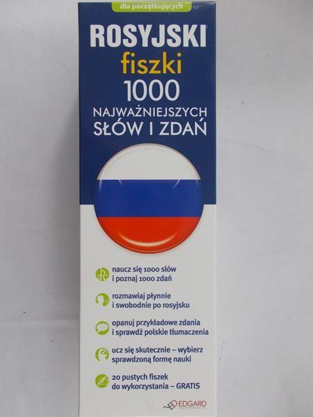 Rosyjski Fiszki 1000 najważniejszych słów i zdań