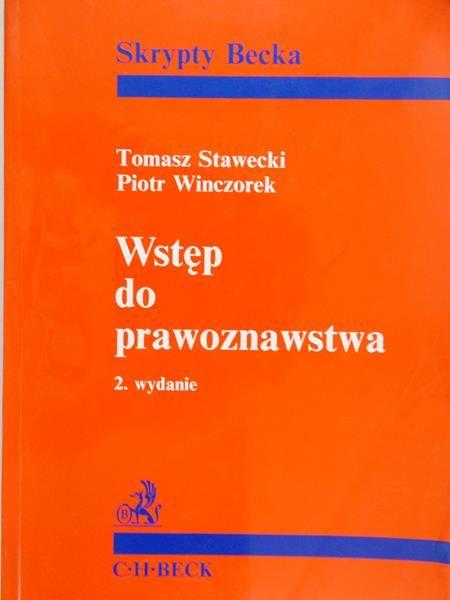 Stawecki Tomasz - Wstęp do prawoznawstwa