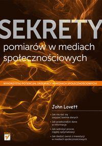 Lovett John - Sekrety pomiarów w mediach społecznościowych