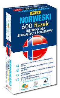 Norweski 600 fiszek Trening dla znających podstawy + CD poziom A2-B1,Nowa