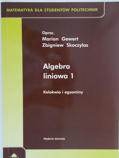 Gewert Marian - Algebra liniowa 1