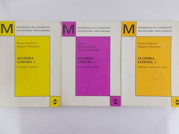 Jurlewicz Teresa - Algebra liniowa 1, Definicje, twierdzenia i wzory / Przykłady i zadania / Kolokwia i egzaminy