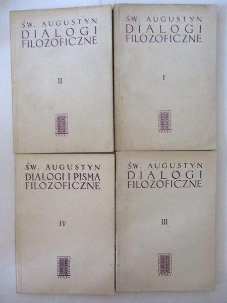 Św. Augustyn - Dialogi filozoficzne, t. I-IV
